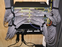 Network cabling in JRM Lab