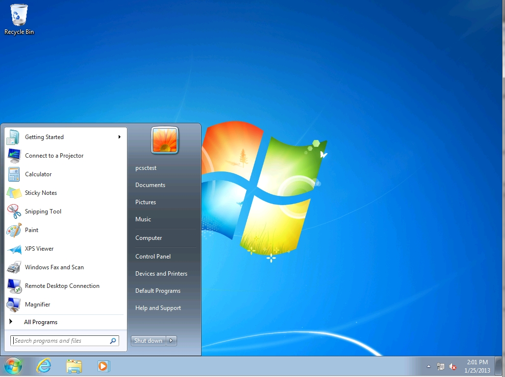 default windows 7 desktop - photo #8