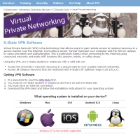 KSU ITS VPN Page - Click To Enlarge
